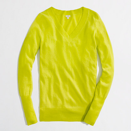 Factory warmspun V-neck sweater