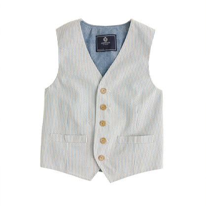 Boys' Ludlow vest in seersucker