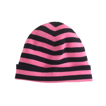 Stripe merino hat