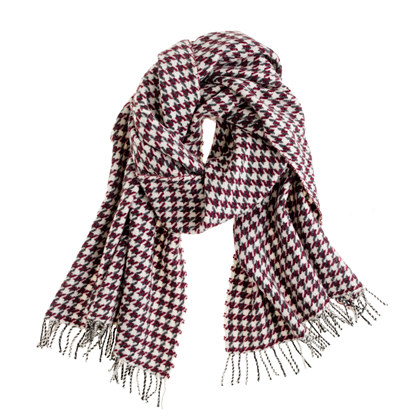 Wool houndstooth scarf