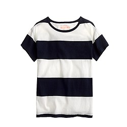 Girls' relaxed tee in stripe