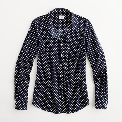 Factory perfect shirt in printed cotton