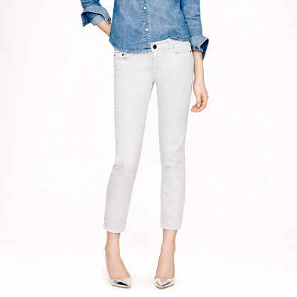 Cropped matchstick jean in garment-dyed denim