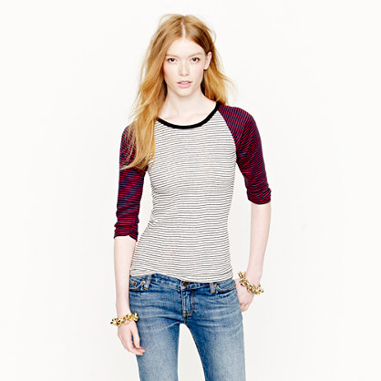 Edith A. Miller™ baseball-sleeve tee