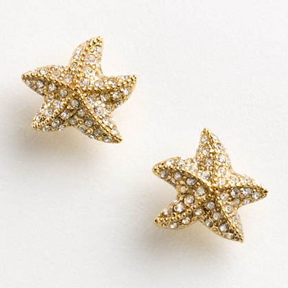 Factory pavé starfish earrings