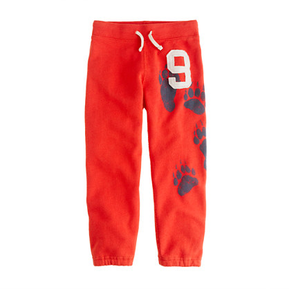 Boys' french terry sweatpant in bear print