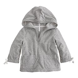 Girls' terry V-neck hoodie