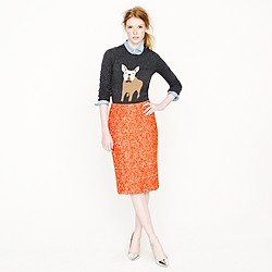 No. 2 pencil skirt in corkscrew tweed