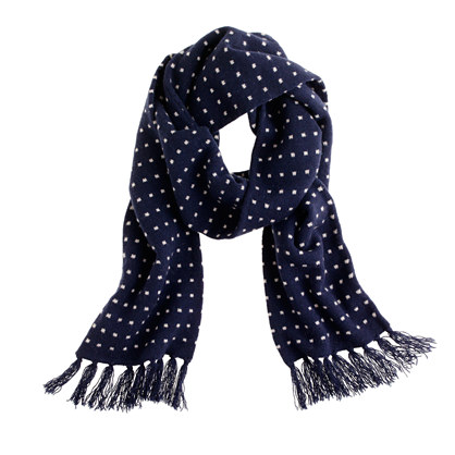 Lambswool dot scarf