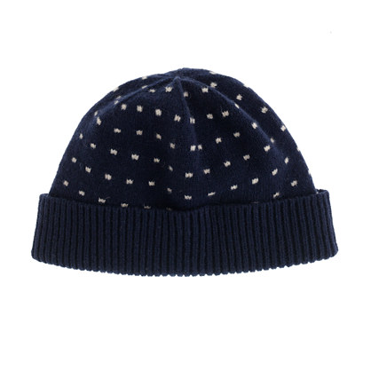 Lambswool dot hat