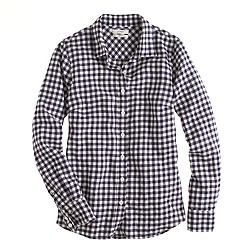 Perfect shirt in gingham flannel
