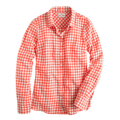 Petite perfect shirt in gingham flannel
