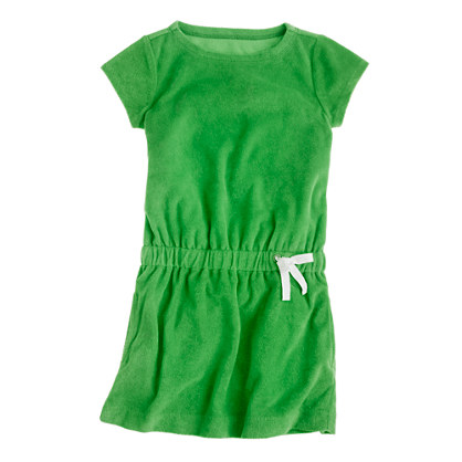 Girls' terry drawstring dress