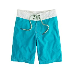 Boys' contrast stitch board shorts