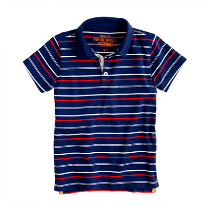 Boys' vintage jersey polo in stripe