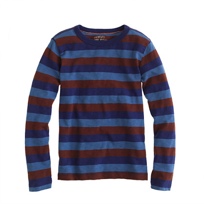 Boys' long-sleeve tee in triple stripe