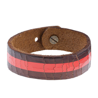 Boys' painted leather bracelet