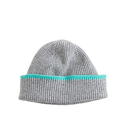 Boys' tipped cashmere hat