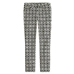 Tall toothpick jean in geometric print