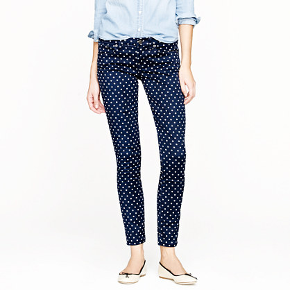 Toothpick jean in polka dot