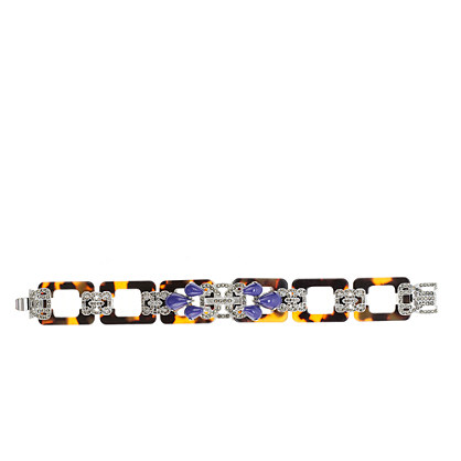 Lulu Frost for J.Crew resin and marcasite bracelet