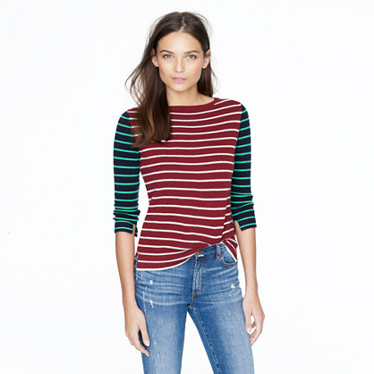 Collection cashmere colorblock stripe sweater