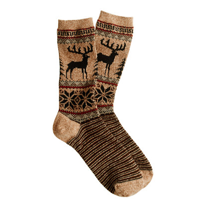 Anonymous Ism deer socks