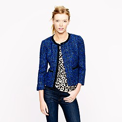 Lady jacket in blue tweed