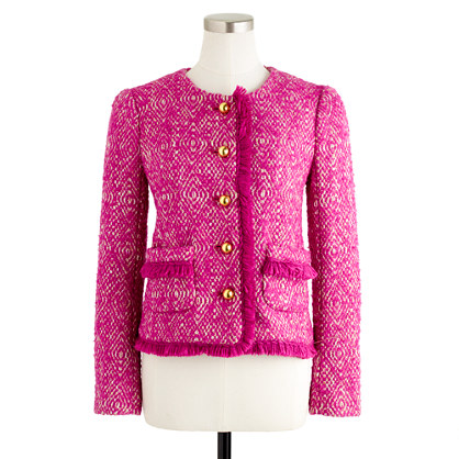Lady jacket in corkscrew tweed