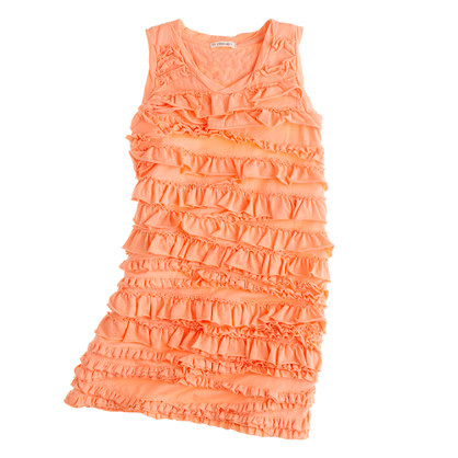 Girls' rolling ruffle dress