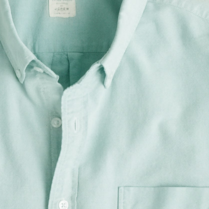 Sun-faded solid oxford shirt