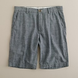 "11"" club short in grey chambray"