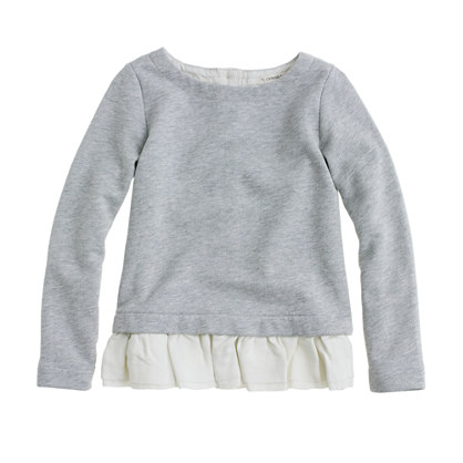 Girls' ruffled popover