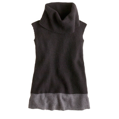 Girls' cowlneck sweater-dress