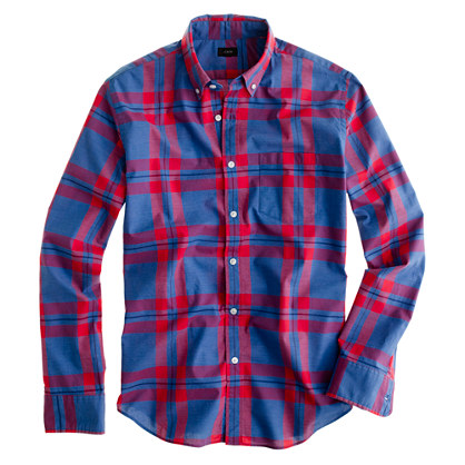 Secret Wash shirt in pacific plaid
