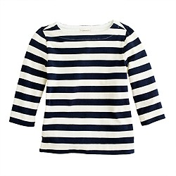 Girls' boatneck sailor tee