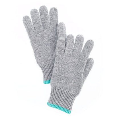 Boys' tipped cashmere gloves