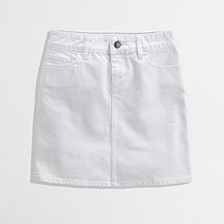 Factory white denim mini