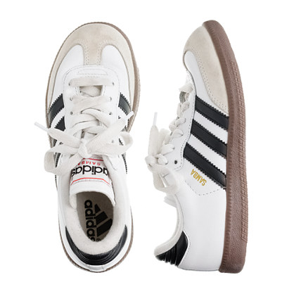 Kids' Adidas® white Samba® sneakers