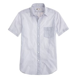 Thomas Mason® short-sleeve shirt in navy stripe
