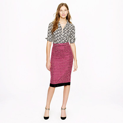 Collection pencil skirt in pink tweed