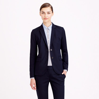 Petite 1035 jacket in pinstripe Super 120s