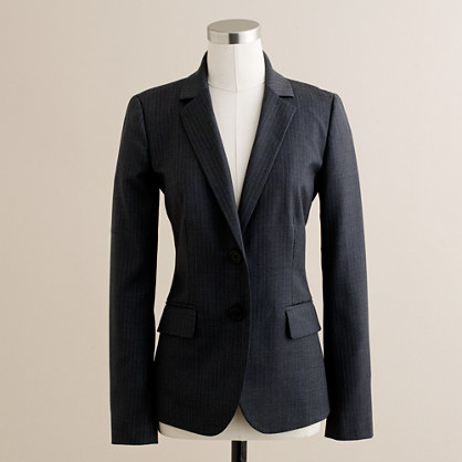 Tall 1035 jacket in pinstripe Super 120s