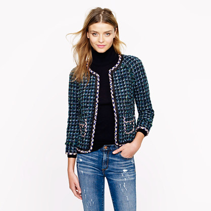 Collection lady jacket in dual tweed