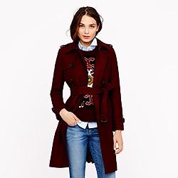Petite icon trench in wool-cashmere