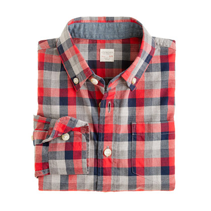Boys' heather plaid shirt