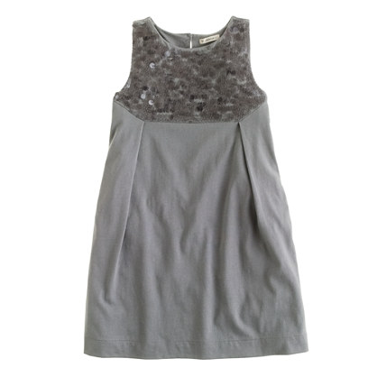 Girls' paillette bib dress
