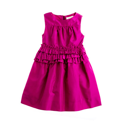 Girls' taffeta Linley dress