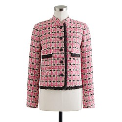 Collection lady jacket in graphic tweed