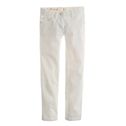 Girls' white toothpick jean